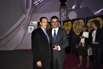 Don Jordi Morro y Jaime Jalón en la presentación Leche Tierra de sabor