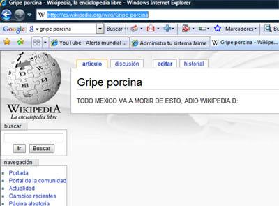 wikipedia saboteado