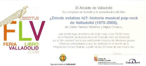 Invitacion del Ayuntamiento Feria del Libro