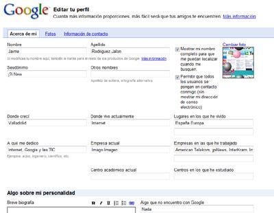 Tu perfil en Google